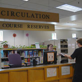 Holman Library Circulation Desk