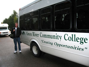 Green River Student Cody Rapp comments about Pacific Shuttle