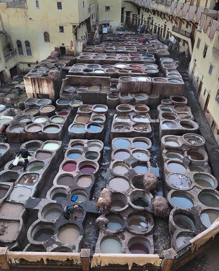 Patrick Navin, Leather Tanneries, Fes Morocco, Photograph, 2018