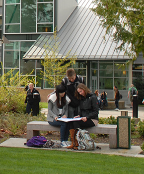 Photo of students in front of the Tech Center