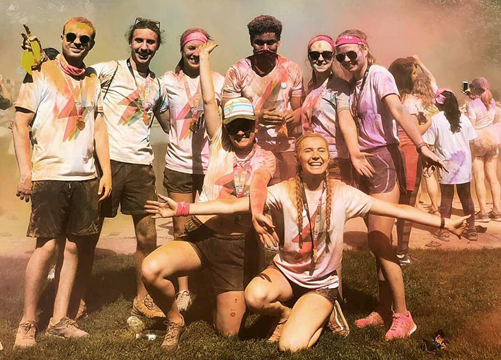 Green River students participate in the 2018 Seattle Color run