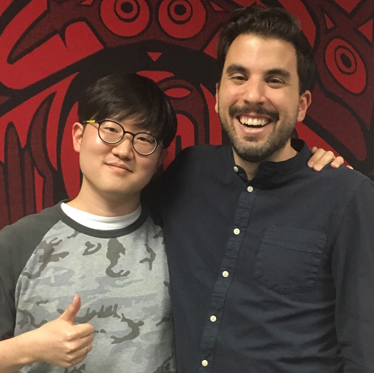 Je Seung You with his former advisor, Andrew Turgeon
