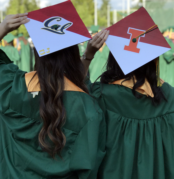 Green River graduates transferring to UC Berkeley and UIUC.