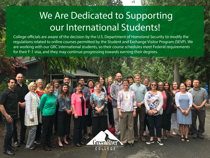 International Programs staff stand in solidarity with International students.