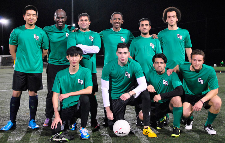 photo of Green River College recreational soccer team