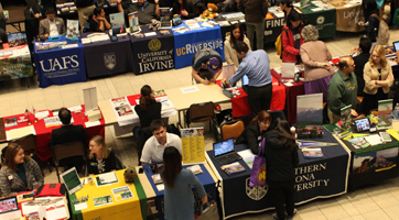University Transfer Fair in the Student Affairs building