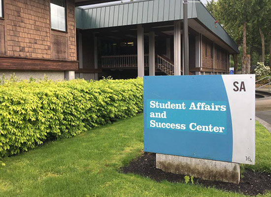 Photo of the Student Affairs and Success Center entrance