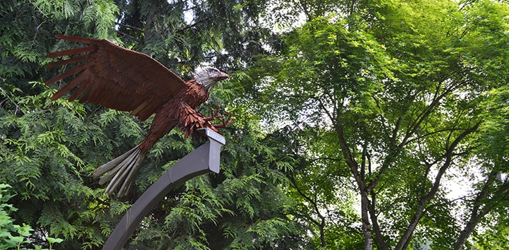 Photo of the Freedom Eagle sculpture