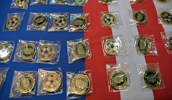Photo of Green River College Challenge Coins