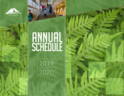 cover of the 2019-2020 Green River College Annual Schedule