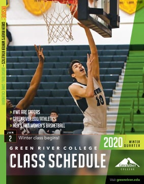 Cover of the winter 2020 Green River College class schedule
