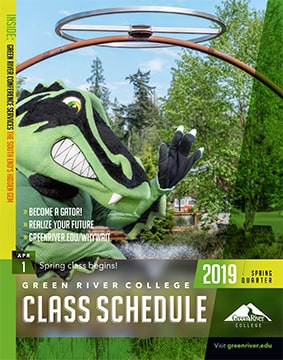 Cover of the Green River College Spring 2019 Class Schedule