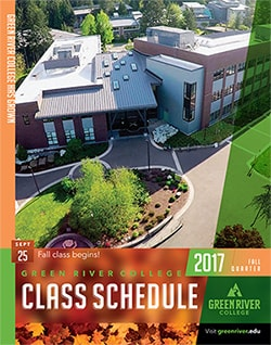 cover image of the Fall 2017 Green River College Class Schedule