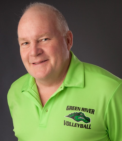 photo of Green River College Women's Volleyball head coach Kyle Densley