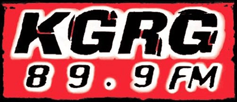 logo for the KGRG 89.9FM radio station