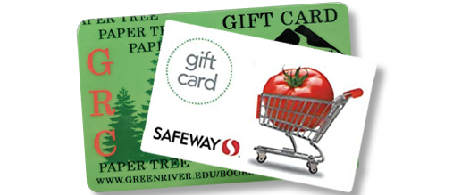 Paper Tree and Safeway gift cards